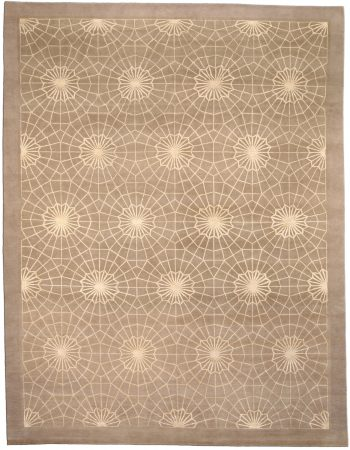 Contemporary Spider Web Rug N03615
