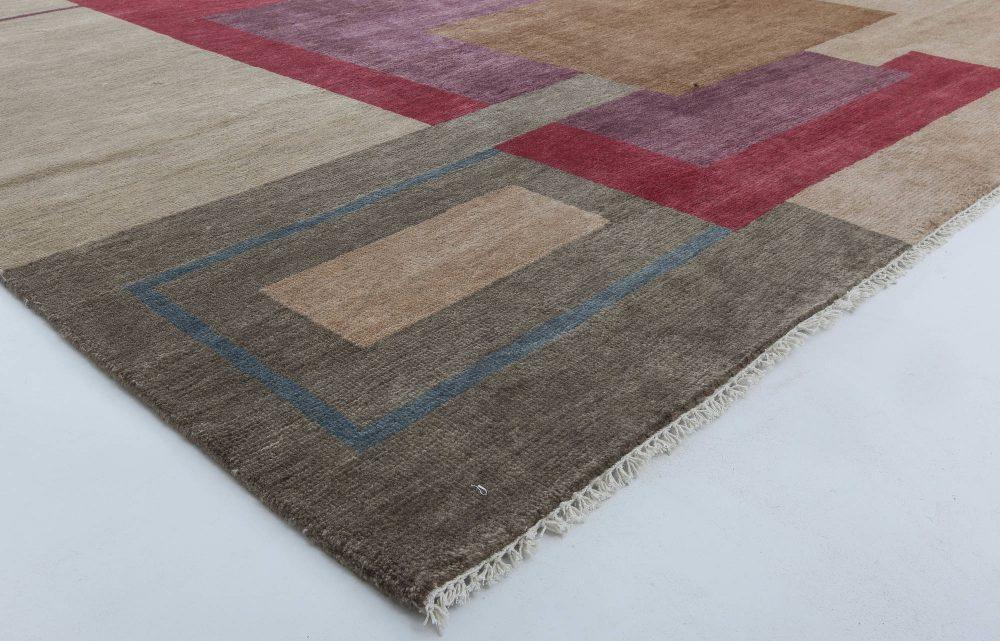 Ivan Da Silva-Bruhns Inspired Large Art Deco Colorful Wool Rug N11429