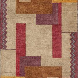 Ivan Da Silva-Bruhns Art Deco Inspired Multicolored Pattern Rug N11400