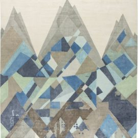 Contemporary White, Beige, Blue and Gray Everest Rug I N11683