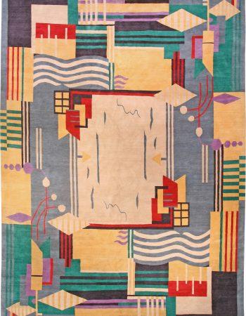 Deco Inspired Tibetan Rug N10959