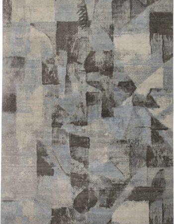 藍色布拉克地毯N11488