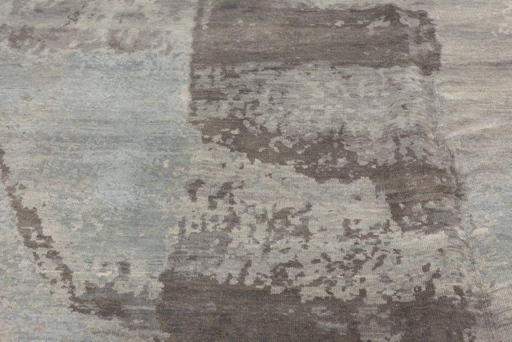 Contemporary Braque Dark Gray, Blue, Cream and Lilac Rug N11488