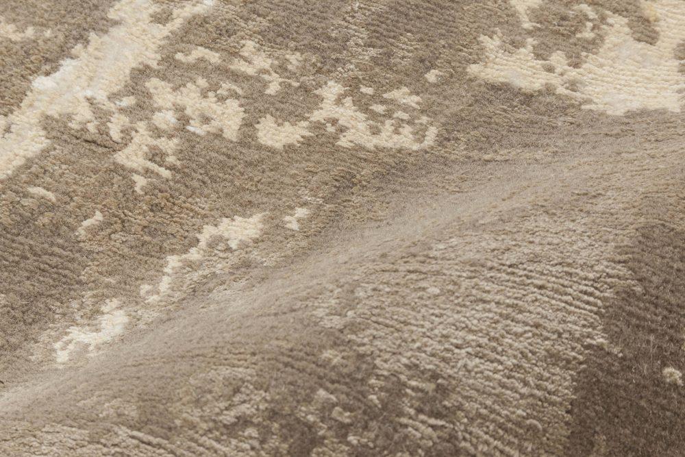 Sandstorm Hand-spun Wool and Silk, Brown & Sandy Beige Rug N11659