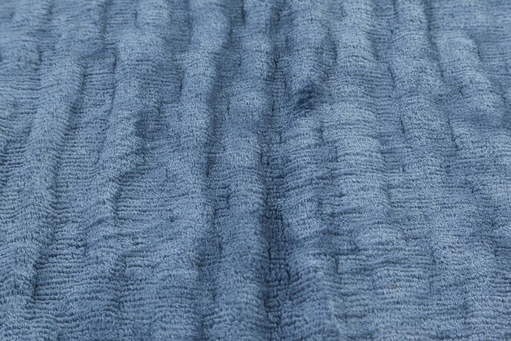 Contemporary Sand Dunes in Blue Silk N11413