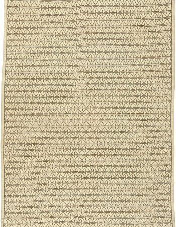 Circular Silk Beige & Brown Rug N11060