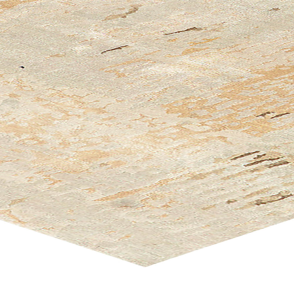 Contemporary Beige, Taupe and Gold Wall-Sky Dreamy Rug N10842