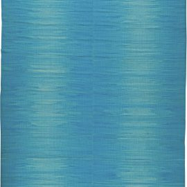 Contemporary Light Blue Hand Knotted Wool Kilim Rug N11171