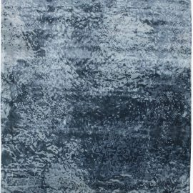 Water Design Blue Hand-knotted Wool & Silk Rug N11608