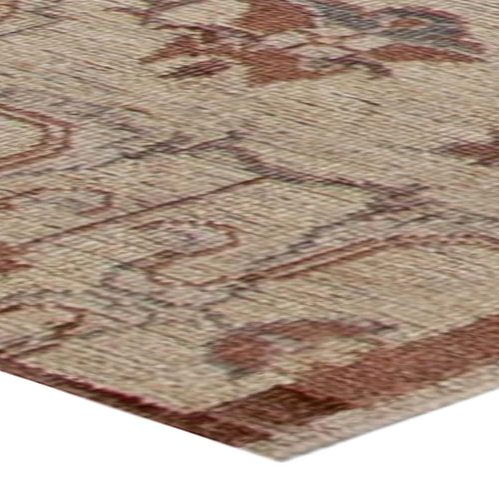 Contemporary Traditional Inspired Botanic Designed Wool Runner N11032