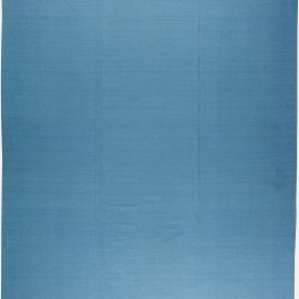 Contemporary Sky Blue Flat-Woven Wool and Silk Rug N11376