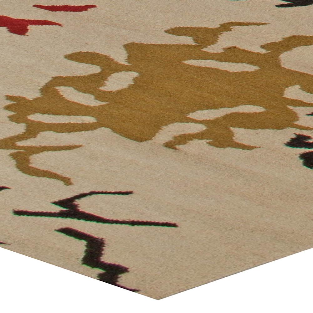 Oversized Modern Flat Weave Rug N11035