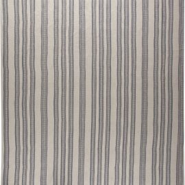 Contemporary Oversized Gray Stripped Flat-Woven Wool Rug N10911