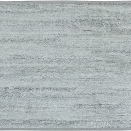 Contemporary Handwoven Heathered Gray Rug N11563