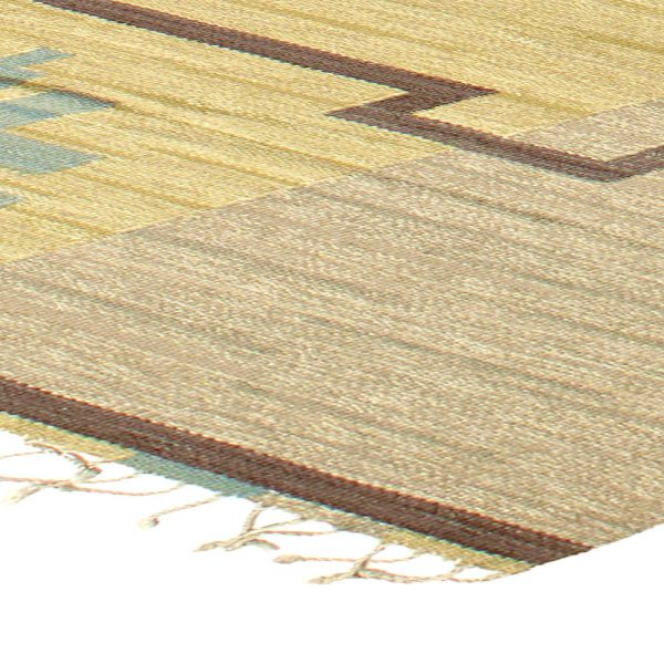 Vintage Flat Weave Swedish Rug by Sodra Kalmar BB5697