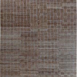 Modern Hemp Striped Dark Brown Rug N10938