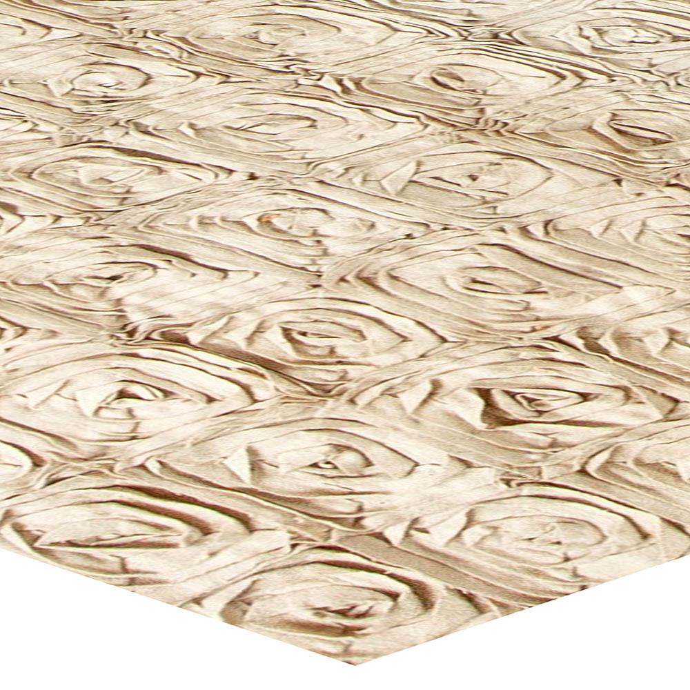 Modern Floral Rose Gold Handcrafted Carpet N10999