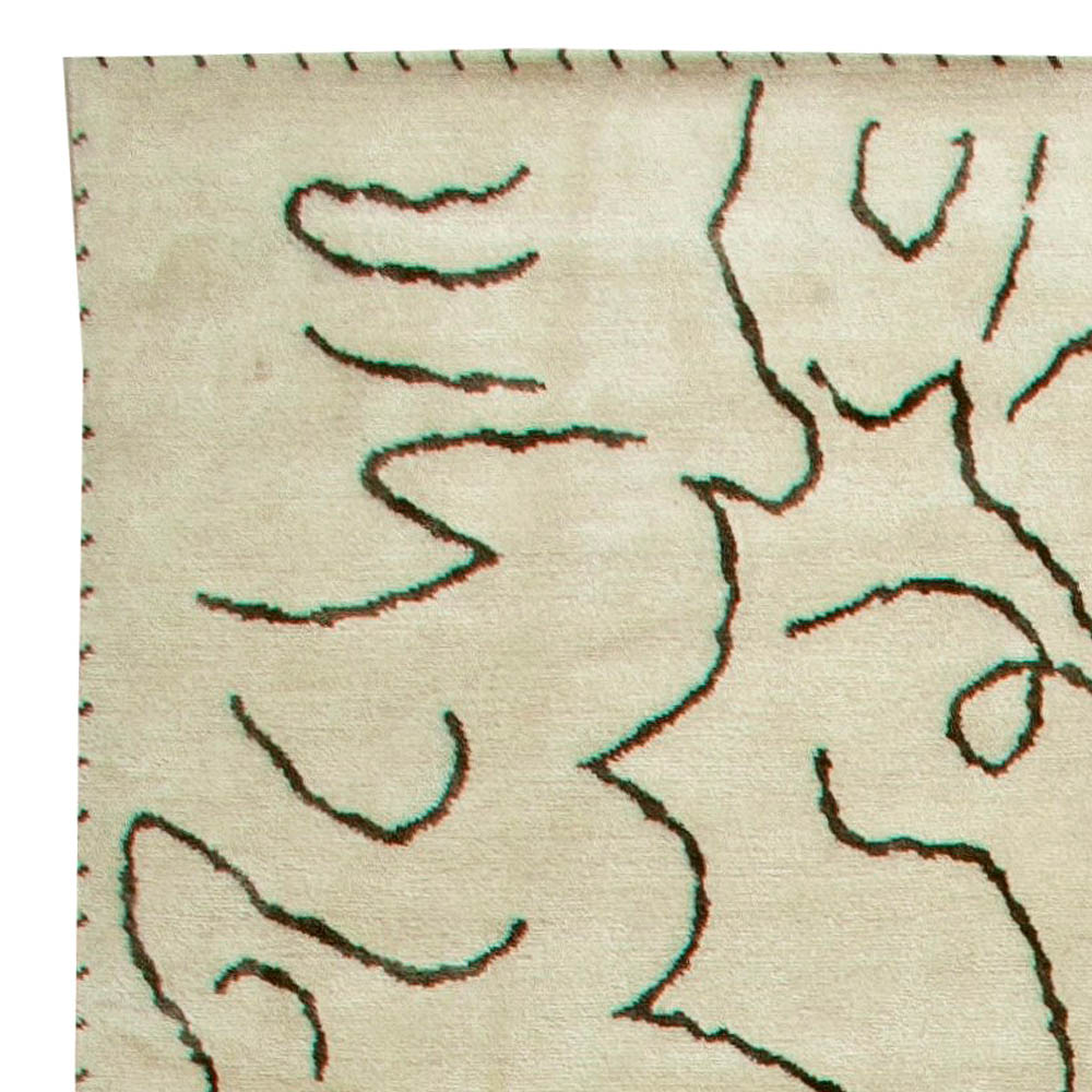 Modernist Jean Cocteau Style Rug N11232