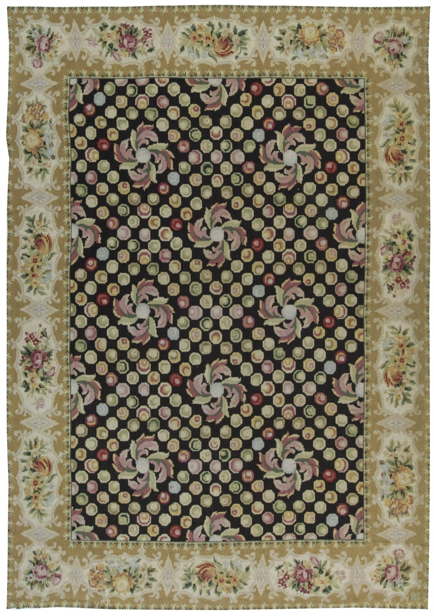 Contemporary European Inspired Bassarabian Rug N11510