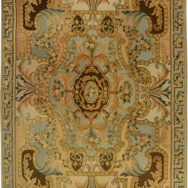 Traditional Savonnerie Inspired  Hig/ Low Rug N11552