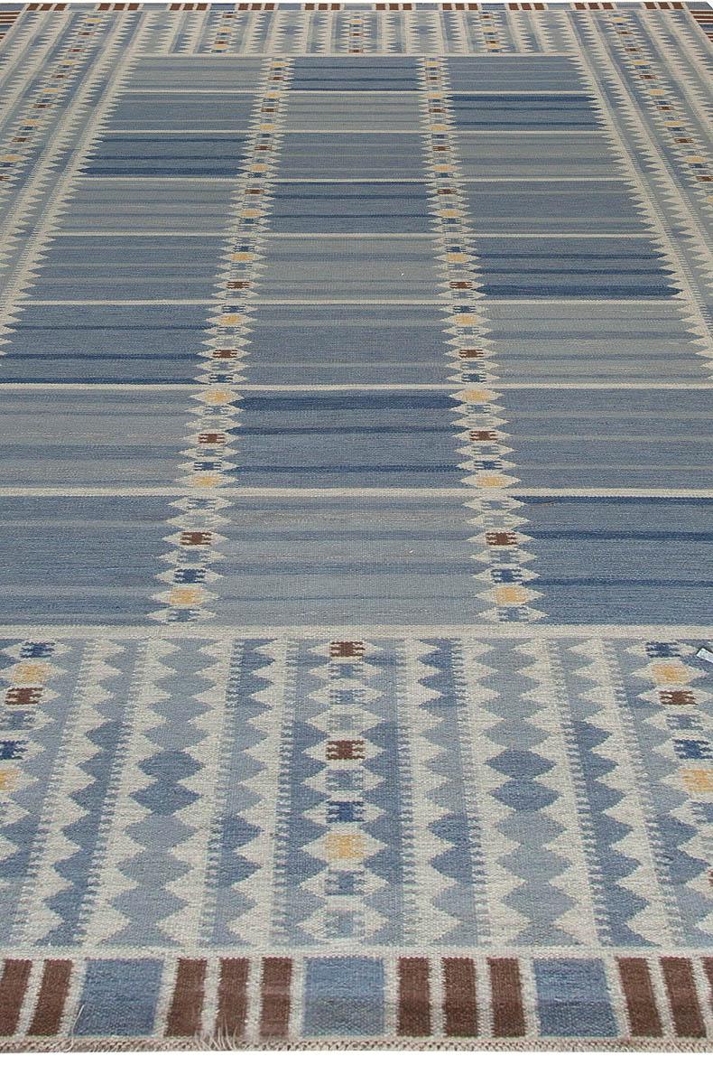 Swedish flat weave Rug N11236