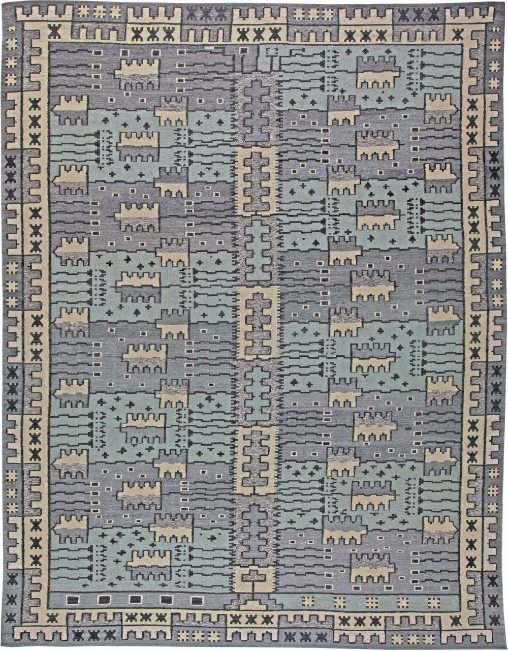 Swedish Flat Weave Rug N11143