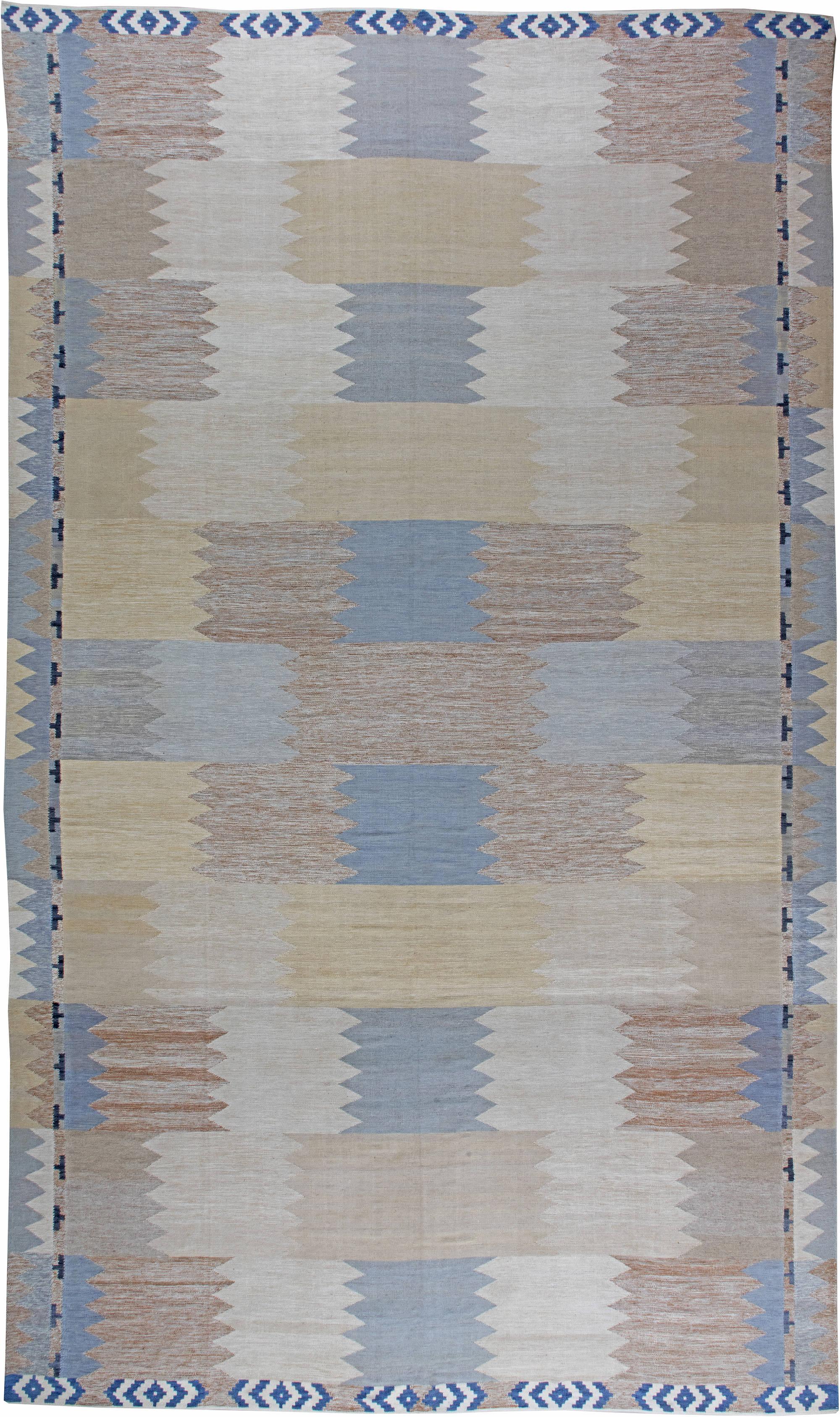 Swedish Flat Weave Rug N11336