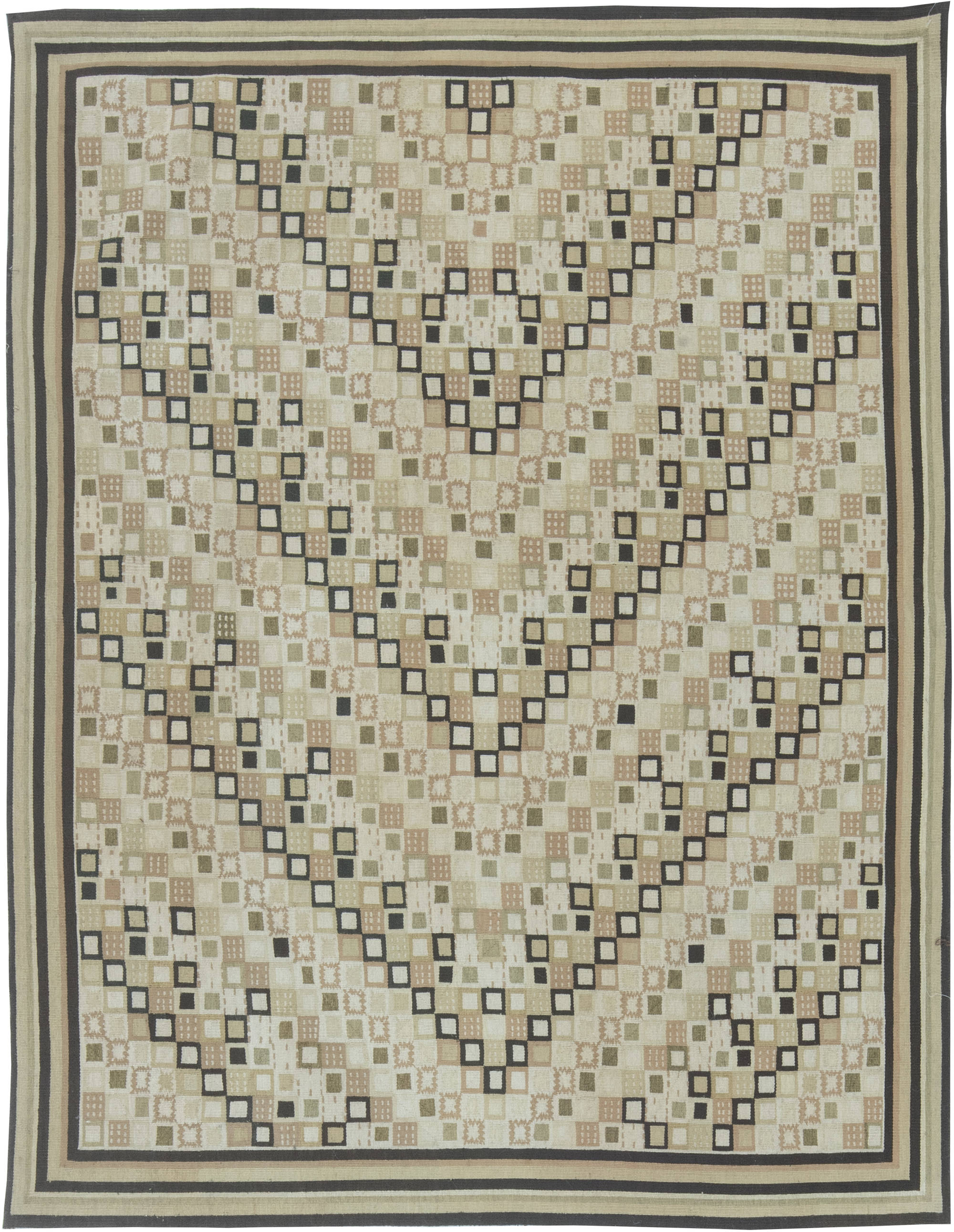 Swedish Design Flat Weave Rug N11497