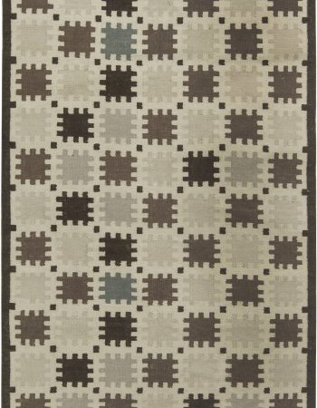 Indoor – Outdoor Flatweave Rug with Scandinavian Design N11651