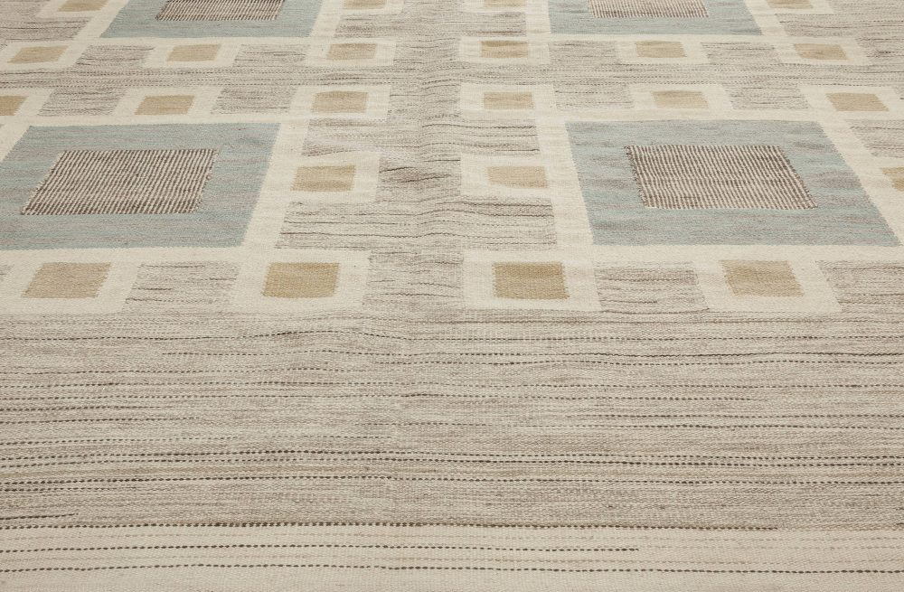 Swedish Design Flat Weave Rug N11535