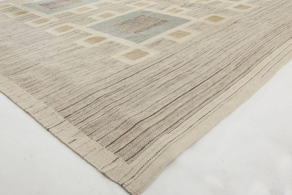 Swedish Design Flat Weave Rug N11535