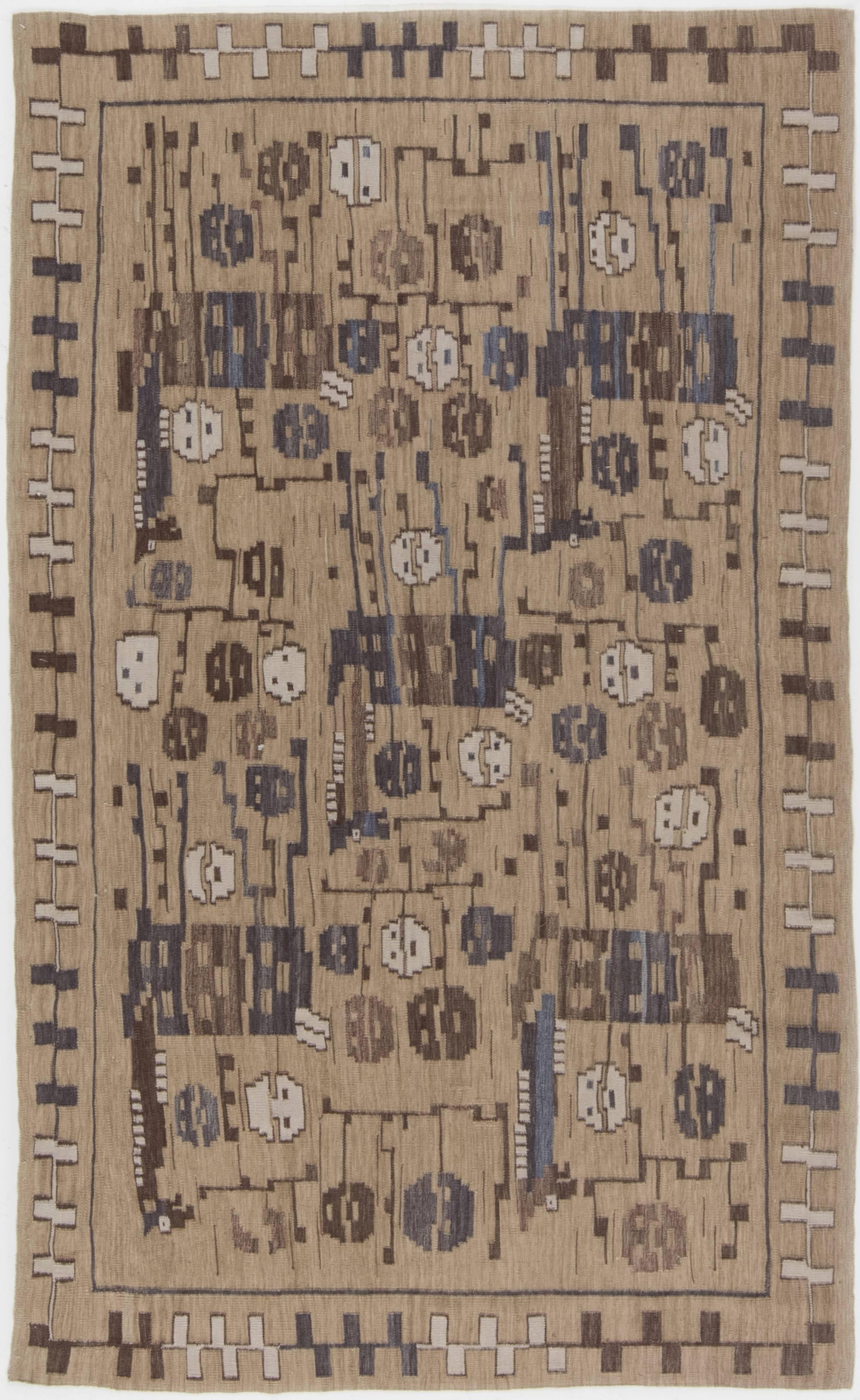 Swedish Design Flat Weave Rug N11673