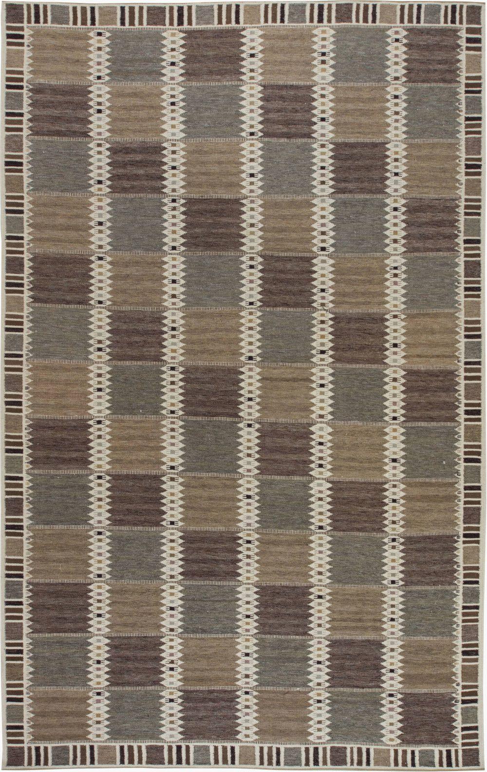 Swedish Design Flat Weave Rug N11581