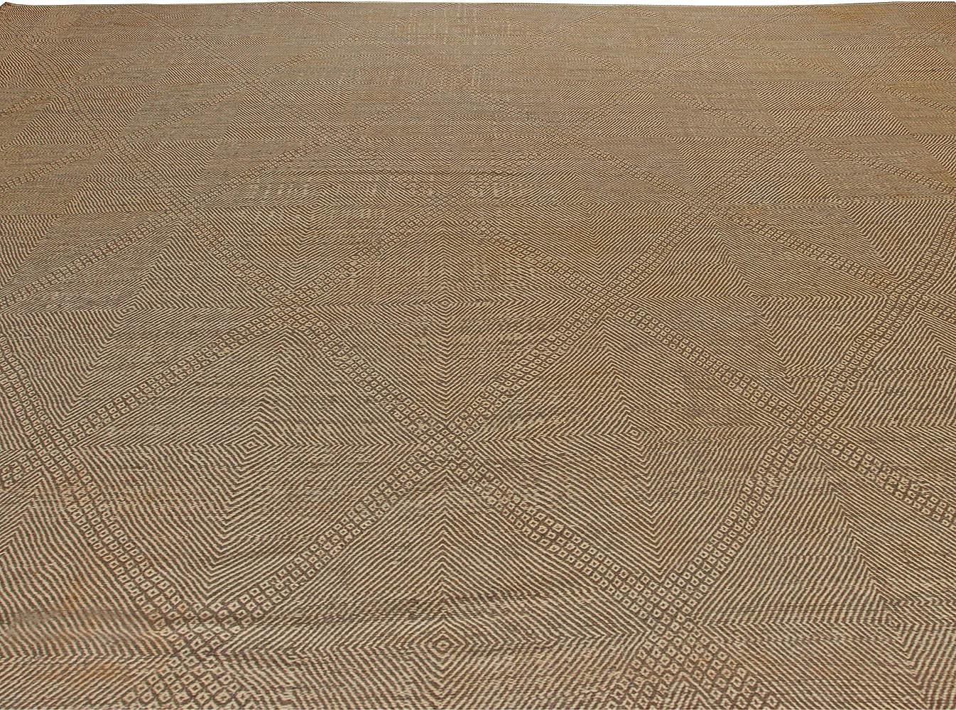 Oversized Modern Flat Weave Moroccan Rug N10871