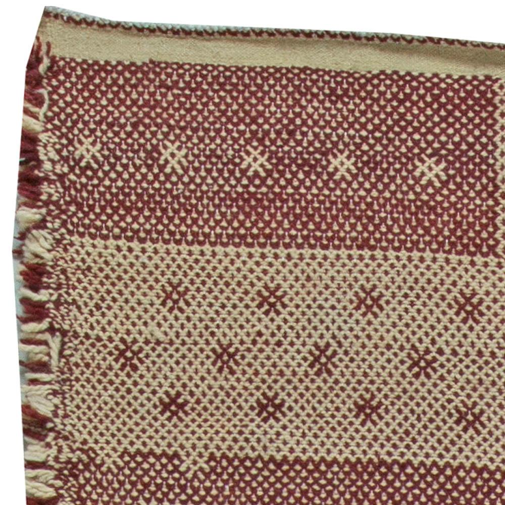 Modern Moroccan Flat Weave Rug N10870 By Doris Leslie Blau