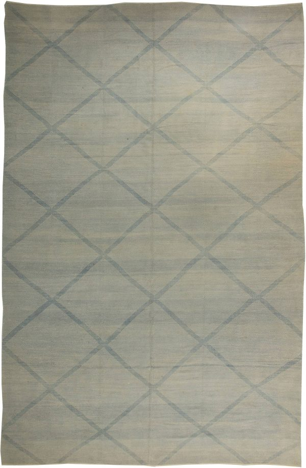 Blue Deux Diamond  Rug II N10867