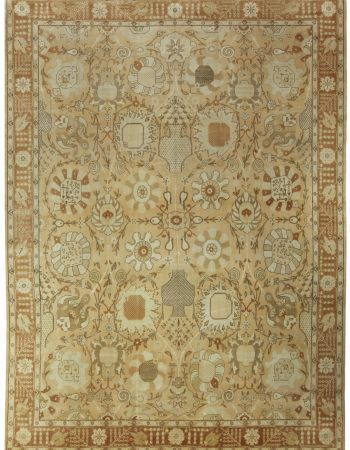 Contemporary Design Brown and Beige Rug N10773