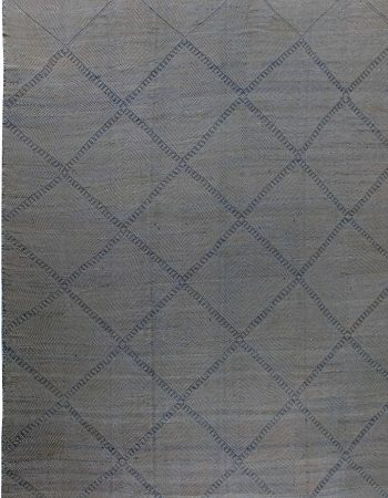Oversize Blue Deux Diamond Area Rug N11700