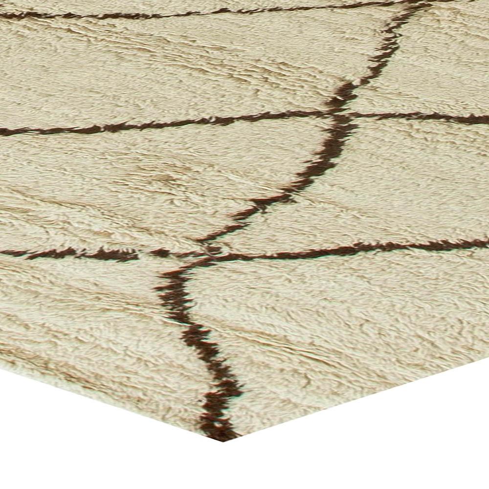Modern Custom Moroccan Hand Knotted Wool Rug N11219