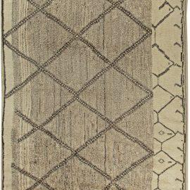 Contemporary Beni Ourain Custom Moroccan Beige & Brown Rug N11243