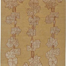 Contemporary Napa Vines Beige and Brown Handwoven Wool Rug N10995