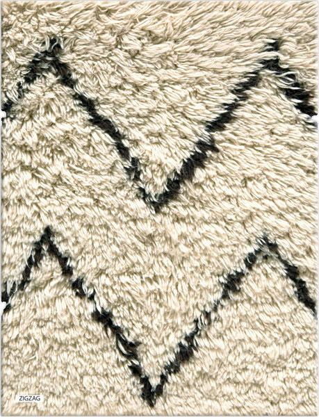 Moroccan Rug – ZigZag100 D030326 3387