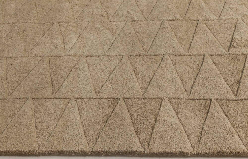 Steppe Geometric Design Rug in Cream and Beige Shades N11742
