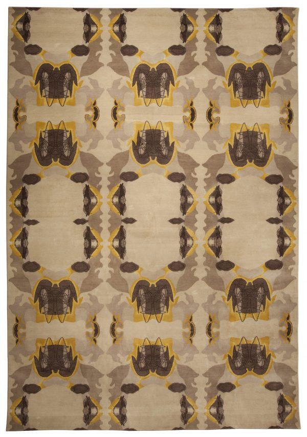 Contemporary Eskayel-Culebra Cubic Rug N10123