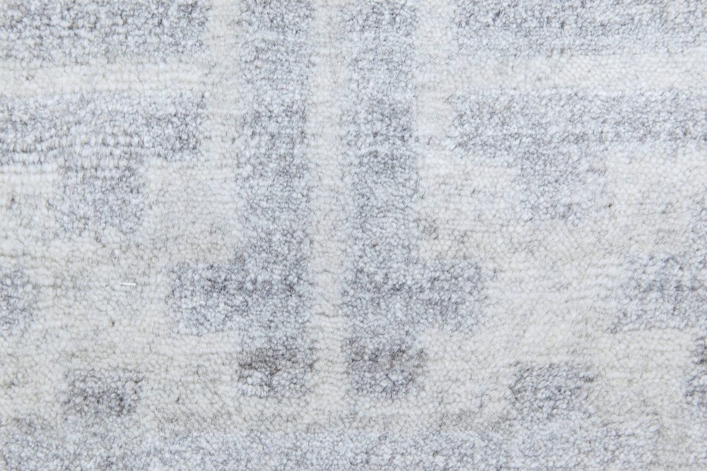 Contemporary Geometric Terra Blue and Gray Rug in Natural Wool N11509