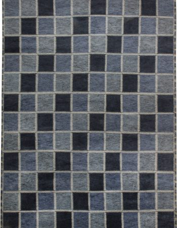 Oversized Swedish Gyllenrutand Design Pile Rug N11430