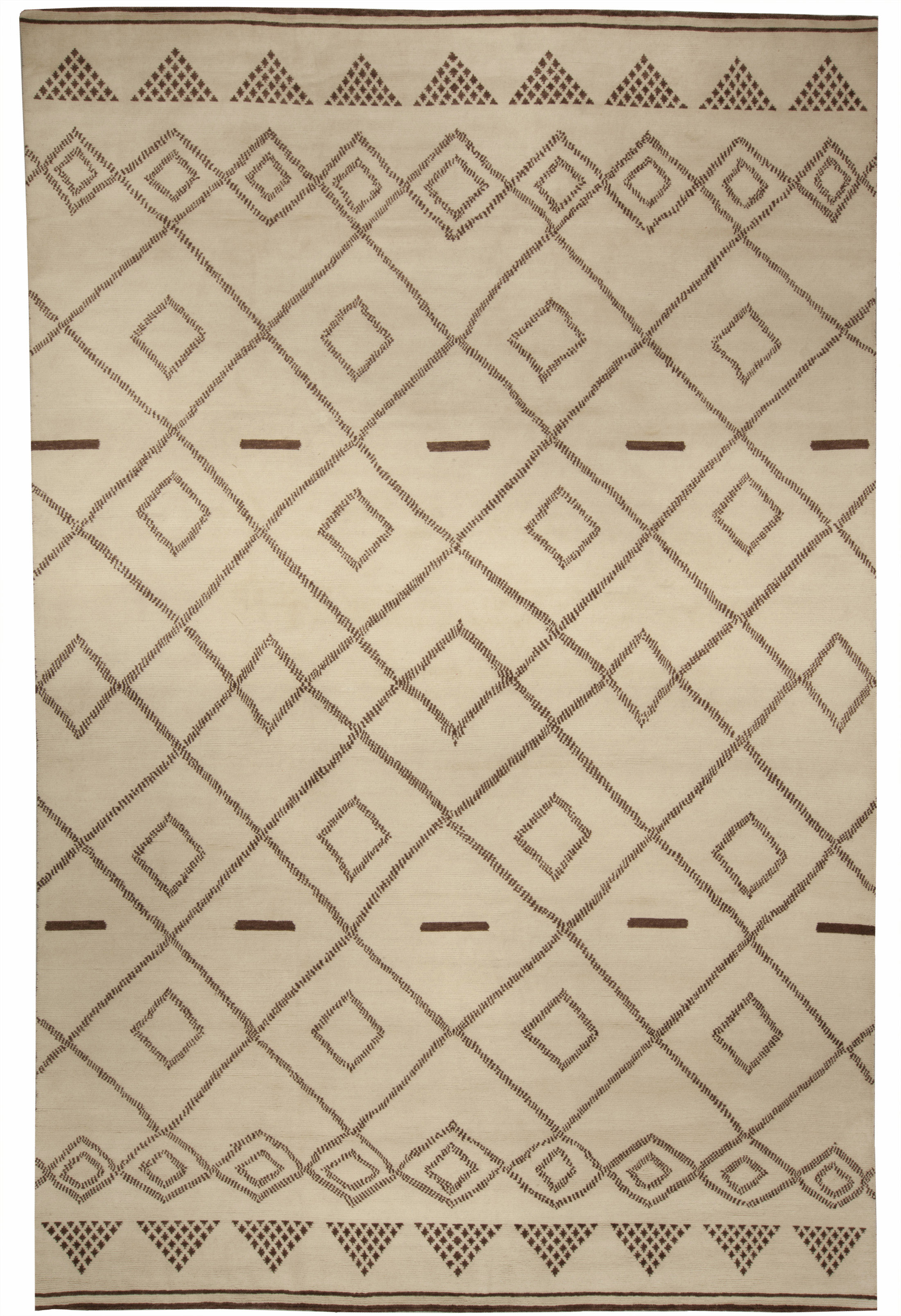 Moroccan Hand Knotted Area Rug