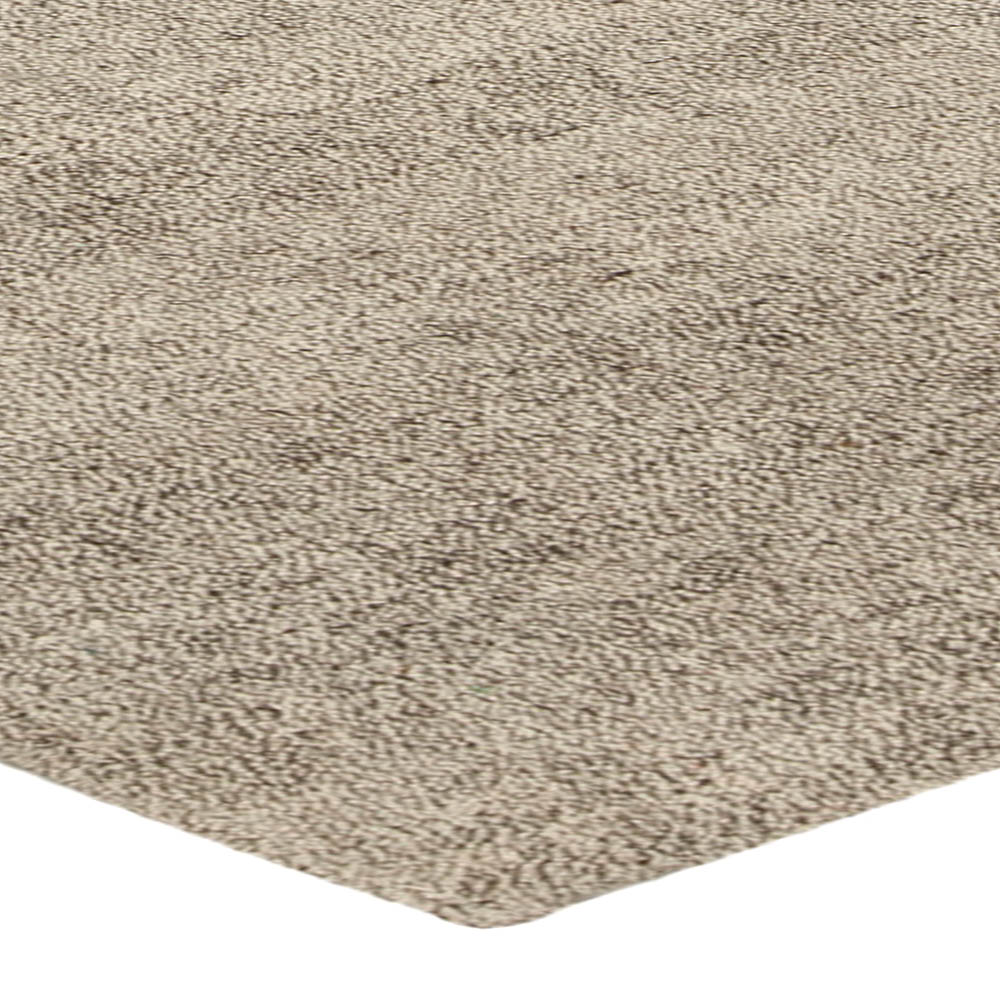 Modern Persian Beige and Gray Hand Knotted Wool Kilim Rug N10223