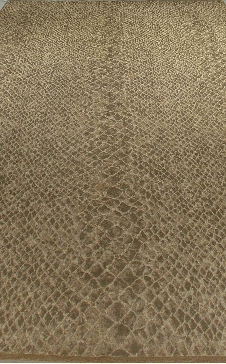 Contemporary Snake Skin Handmade Wool Rug N10695