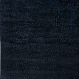 Contemporary Midnight Rug II Solid Hand-knotted Wool Rug N11498